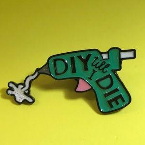 "Jewelry - ""DIY till I DIE"" Enamel Pin Brooch Backpack Pin"